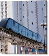 Las Vegas Monorail And Excalibur Hotel Canvas Print