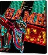 Las Vegas Neon Signs Fremont Street  Canvas Print