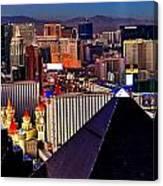 Las Vegas Sundown Canvas Print