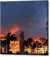 Las Vegas Sunset And Trump Tower Canvas Print