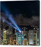 Laser Show In Hk Canvas Print