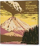 Lassen Travel Poster 1938 Canvas Print
