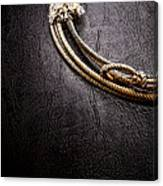 Lasso On Leather Canvas Print