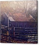 Last Foggy Morning On The Farm Canvas Print