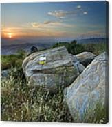 Last Light At The Windy Mountains Canvas Print
