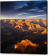 Last Light In The Grand Canyon Canvas Print