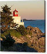 Last Light On Amphritite Lighthouse Canvas Print