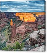 Last Light On Spider Rock Canyon De Chelly Navajo Nation Chinle Arizona Canvas Print