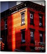 Last Rays Of The Sun - Old Buildings Of New York Canvas Print