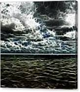Last Winds Of Hurrican Issac  Canvas Print