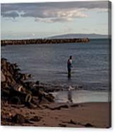 Late Afternoon Angler - Maalaea-maui Canvas Print
