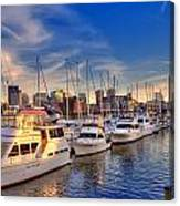 Late Afternoon At Constitution Marina - Charlestown Canvas Print