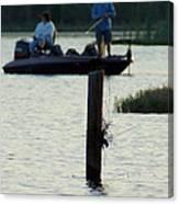 Late Afternoon At Lake Seminole Ga Bass Fishing Canvas Print