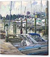 Late Afternoon In Virginia Harbor Canvas Print