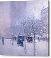 Late Afternoon - New York Winter Canvas Print