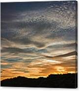 Late Afternoon Sky Canvas Print