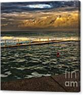 Late Afternoon Swimmer Canvas Print
