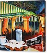 Late At Cafe Du Monde Canvas Print