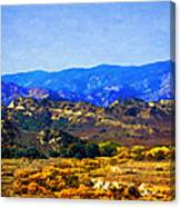 Late Blooms In Hungry Valley Canvas Print