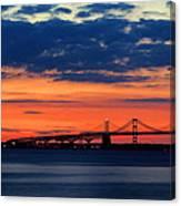Late Evening Chesapeake Sunset Canvas Print