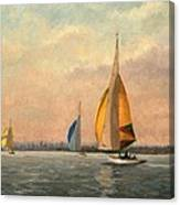 Late Finish  Featuring Dragons On The Medway Canvas Print