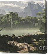 Late Jurassic East Africa With A Host Canvas Print