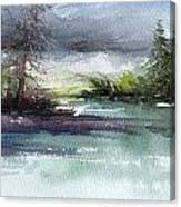 Late Lake Canvas Print