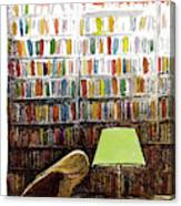 Late Night At The Library Canvas Print