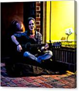 Late Night Busking Canvas Print