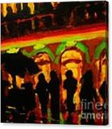 Late Night Hotdog Cart In Halifax Canvas Print