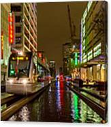 Late Night Ride On The Metrorail Canvas Print