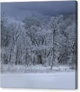 Late Snow At The Rio Grande Canvas Print