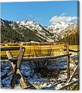 Late Spring Snow At Squaw Canvas Print