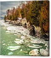 Late Winter At Cave Point Canvas Print