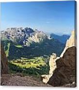 Latemar Mount From Vaiolon Pass Canvas Print