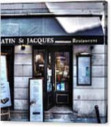 Latin St Jacques Paris France Canvas Print