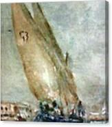 Latini Boat Entering Grand Harbour Valletta  Canvas Print