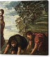 Latona Changing The Lycian Peasants Into Frogs Canvas Print