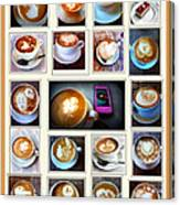 Latte Art Collage Canvas Print