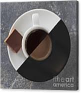 Latte Or Espresso Canvas Print