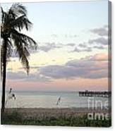Lauderdale By The Sea Florida Sunset Canvas Print