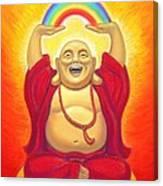 Laughing Rainbow Buddha Canvas Print