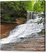 Laughing Whitefish Waterfall Canvas Print