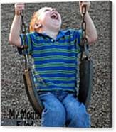 Laughter In The Park Canvas Print