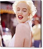 Laughter Of Marilyn Canvas Print