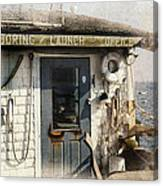 Launch Office Mcmillian Wharf Provincetown Canvas Print