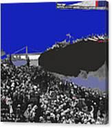 Launching Uss Arizona June 19 1915 Brooklyn Naval Yard Color Added 2013  Canvas Print