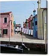Laundry Day In Burano Canvas Print