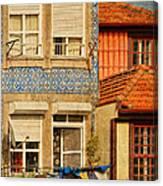 Laundry Day In Porto - Photo Canvas Print
