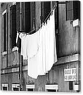 Laundry IIi Black And White Venice Italy Canvas Print